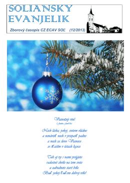 Vianočný časopis 2013