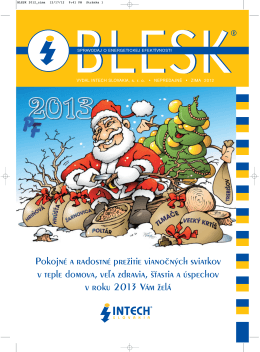 BLESK 2012_zima - INTECH Slovakia, s.r.o.