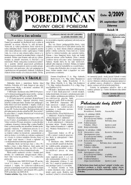 Pobedimčan č. 03/2009