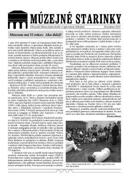 Múzejné starinky 2010 - Stiahnuť PDF