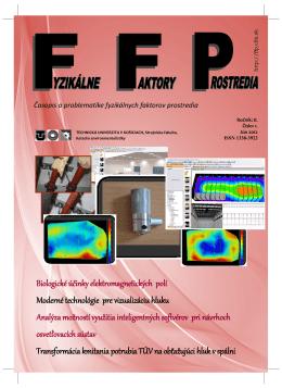 FFP 2012 / 1 - Fyzikálne faktory prostredia