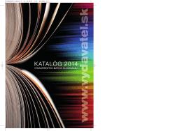KATALÓG 2014 - Vydavatel.sk