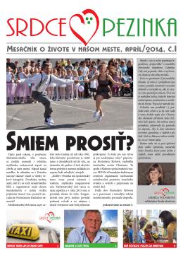 Mesačník o živote v našom meste, apríl/2014, č.I