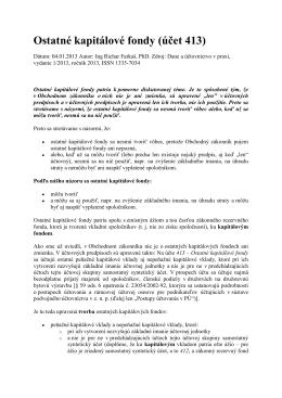 Ostatné kapitálové fondy (účet 413)