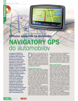 NAVIGÁTORY GPS do automobilov
