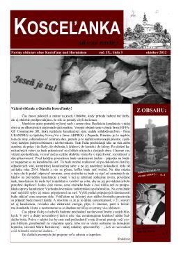 rok 2012 číslo 3 - Kostoľany nad Hornádom