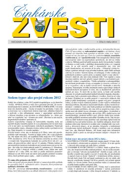 Čipkárske zvesti č. 1 máj 2012