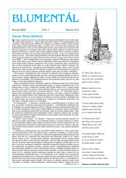 Časopis Blumentál február 2012