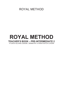 royal method teacher`s book – pre-intermediate 2