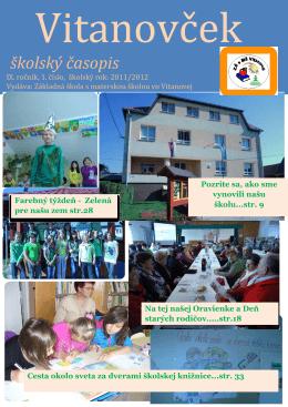 školský časopis - Základná škola s materskou školou Vitanová