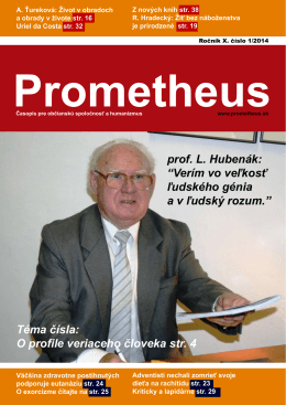 Prometheus 1/2014 Stiahnite si (pdf)