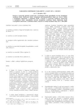 Nariadenie Európskeho parlamentu a Rady (EÚ) č. 1303/2013 zo