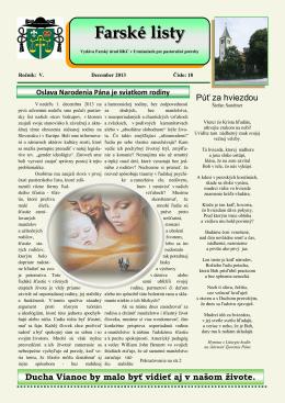 Farské Listy – 18 - Rímskokatolícká cirkev Farnosť Urmince