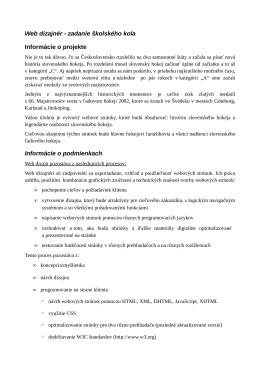 Zadanie pre školské kolo 2014/2015