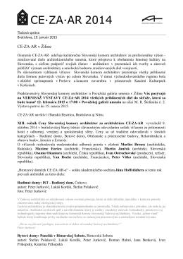 Tlačová správa - Považská galéria umenia v Žiline