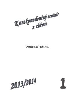 1.kolo - Korešpondenčný seminár z chémie