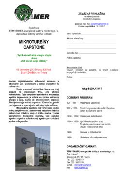 MIKROTURBÍNY CAPSTONE