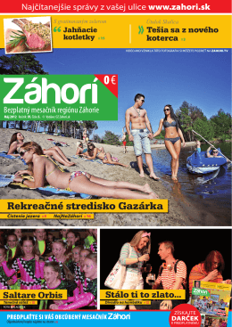 Máj 2012 - prozahori.sk