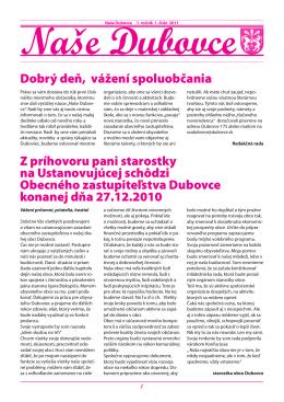 č.1 / 2011 - obec DUBOVCE