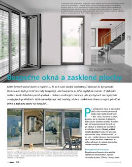 Bezpečné okná a zasklené plochy