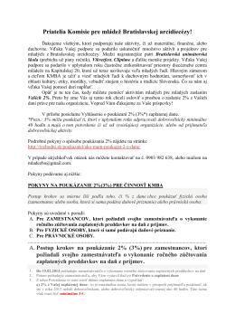 Komisia pre mládež Bratislavskej arcidiecézy [pdf]