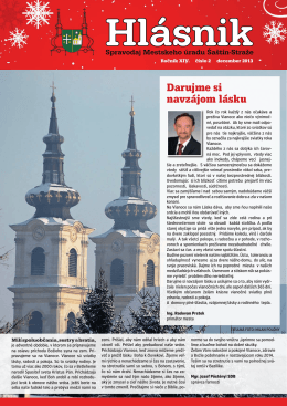 2013 (Rocnik XIV.) - December - cislo 2 - Mesto Šaštín
