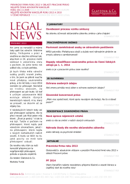 Legal News - prosinec 2013