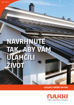 Ruukki katalog strešných krytín 2014 (pdf, 3MB)