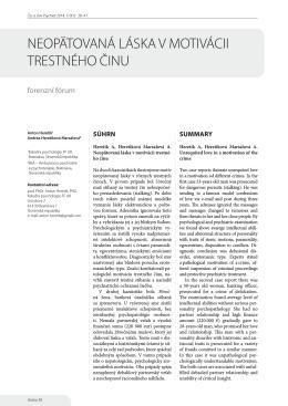 Celá stať v dokumentu PDF - Česká a slovenská psychiatrie