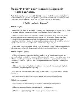 Štandardy poskytovania sociálnej služby (PDF)
