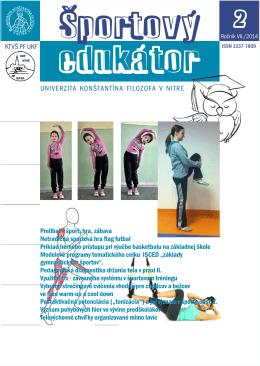 Športový_edukátor_2_2014 - Katedra telesnej výchovy a športu PF