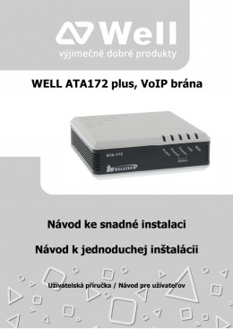 WELL ATA172 plus, VoIP brána