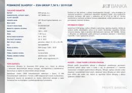 podnikové dlhopisy — esin group 7,50 % / 2019 eur