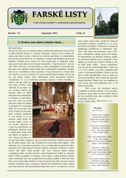 Farské listy č.21