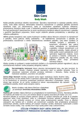 infoletáku Abena Skincare (pdf)