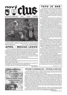 Obecné noviny č.3 - 2012