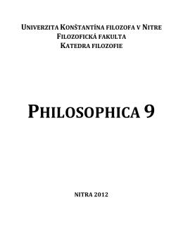 Philosophica 9 - Katedra filozofie
