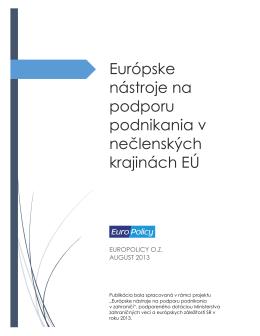 Európske nástroje na podporu podnikania v