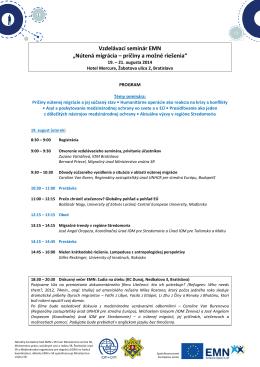 príčiny a možné riešenia 2014: program