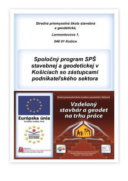 Spoločný program SPŠ stavebnej a geodetickej v Košiciach so