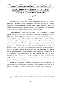 názov článku 14 p - Fakulta prevádzky a ekonomiky dopravy a spojov