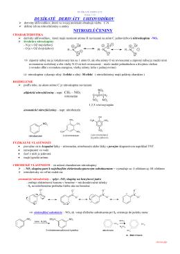 3.2 dusíkaté deriváty