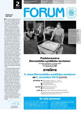 2 - Slovenský syndikát novinárov
