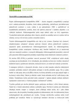 1 Návrh DPS so zameraním na EMC Pojem elektromagnetická