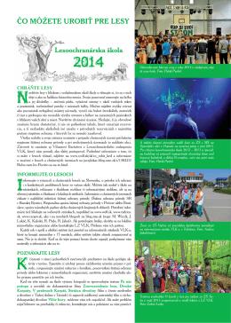 Čo môžete urobiť pre lesy 2014