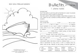 Bulletin - zastolom.sk