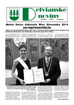 Detvianske noviny 05/2014