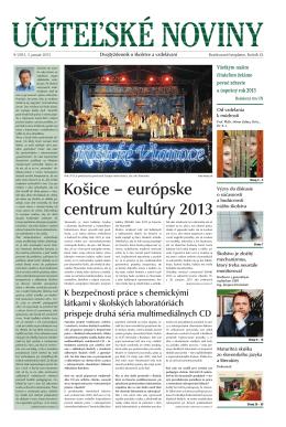Košice – európske centrum kultúry 2013 - Domov