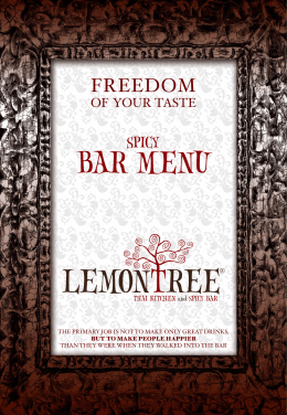 BAR MENU - LemonTree
