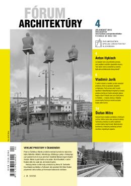 Fórum architektúry 4-2013.pdf - Spolok architektov Slovenska
